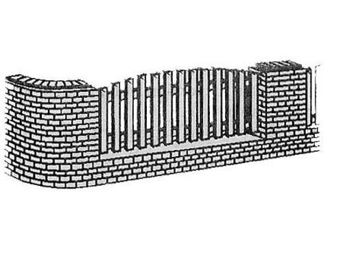 Комбинированные ограды