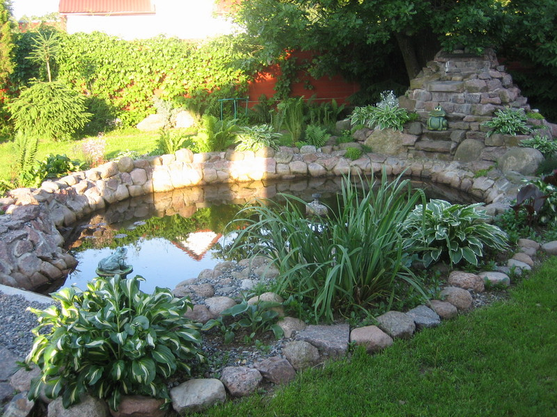 Naturalcrafts home and small pond for Pond landscape