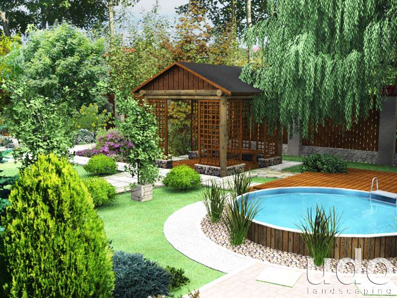 Ландшафтный дизайн своими руками частного дома фото